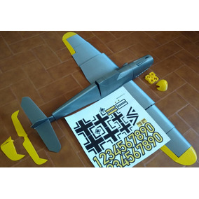 Avion Electrico Rc Messerschmitt Bf 109h Impreso En 3d Kit