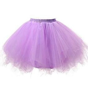 Corta Mujer Ballet Vintage Bubble Puffy Tutu Enagua Falda La
