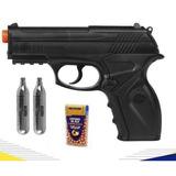 Pistola Pressão Rossi Co2 Win Gun C11 Semimetal 4.5mm Esfera