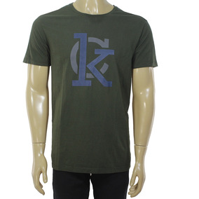 a51bf9cda3dd1 Camiseta Calvin Klein Verde Exercito Grande Sao Paulo - Camisetas ...