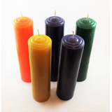 Cirio / Vela 5 X 20cm Decoracion / En Colores X Pieza