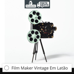Camera Forografica Vintage Film Maker Latão