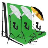 Kit Fotografia Umbrella Luces Kit Estudio Bulb Muslin Luz