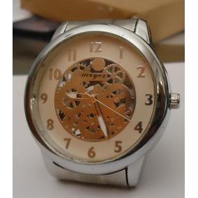 Relógio Feminino Esqueleto Pulseira Série Prata