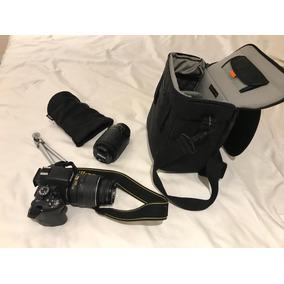 Nikon D5100 + 2 Lentes + Tripé + Bolsa Profissional