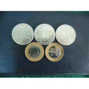 3 Moedas5000 Tiradentes + 2 Banco Central + Estojo 1ª F Grat