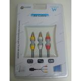 Cable Rca Audio Y Video 3 Rca Para Consola Nintendo Wii