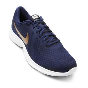 Tênis Nike Revolution 4 - Feminino - Azul dourado - Original 0242bc5cfe03c