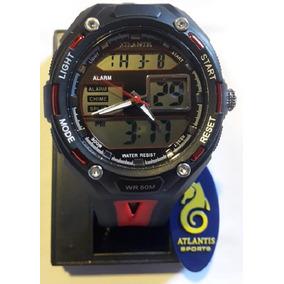 Relógio Digital Atlantis G7414 Preto Masculino