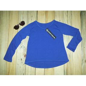 Sweaters Para Niña Emotions Unicolor Semi Cola De Pato Azul 28ada20867e