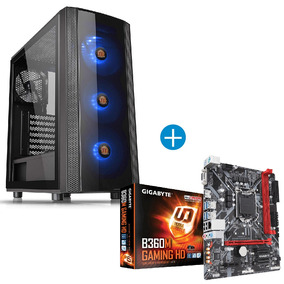 Combo Gamer Board Gigabyte B360m + Chasis Thermaltake J25 Vi