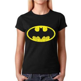 Camisa Baby Look Feminina Heróis - Batman - 100% Algodão!