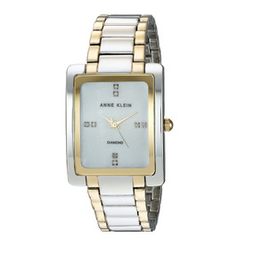 Reloj Anne Klein Modelo Ak2789 Correa Acero Diamantes Nuevo
