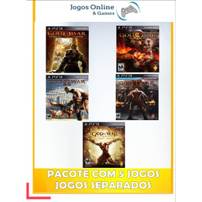 Pacote De Jogos God Of War Ps3 Midia Digital Cód Psn