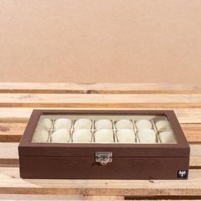 Caixa Para 21 Relógios Maleta Estojo Porta Closet Organizado
