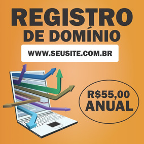 Registro Anual Domínio Seu Site .com.br