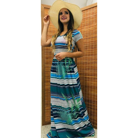 Vestidos Evangélicos Femininos Longos Viscolycra Listrados