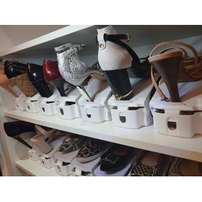 Kit 20 Organizador Sapato Regulagem De Altura + Brinde