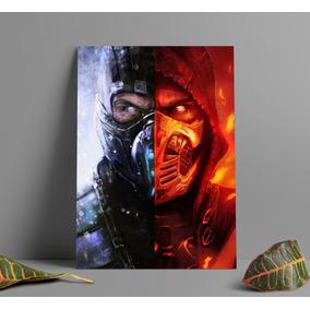 Poster Sub Zero Scorpion Mortal Kombat Poster A3