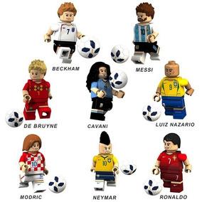 Kit Lego Jogadores Messi Neymar Ronaldo Cr7 Modric Beckham