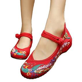 Zapatos De Bordado De Estilo Chino Bordado Zapatos De Mujer