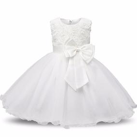 Vestido Infantil Festa Florista Batizado Formatura Branco