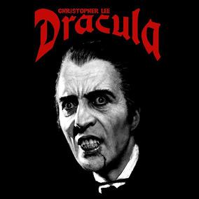 Dracula - Camiseta Preta - Christopher Lee - Dracula