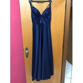 Vestido De Formatura E Baile Azul Marinho
