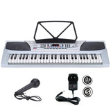 Piano Organo Teclado 54 Controlador Musica + Microfono