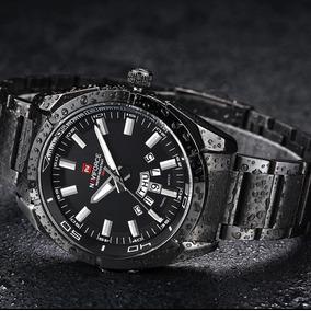 Relógio Luxo Masculino Elegante Preto