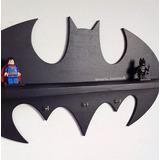 Prateleira E Cabideiro Personalizada Super Heroi Batman