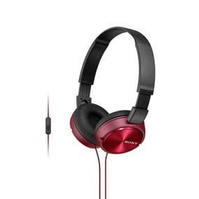 Fone De Ouvido Com Microfone Mdr Zx310 Vermelho Sony