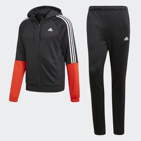 Pants Completo adidas Conjunto Re-focus Negro Rojo