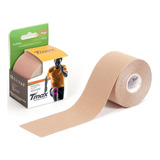 Bandagem Kinésio Elástica Funcional Adesiva Tmax Bege