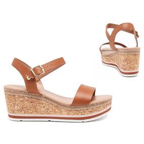 5cd8de9515 Sandalia Anabela Frete Gratis - Sapatos Laranja escuro no Mercado ...