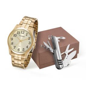 fc498b748a7 Relógio Mondaine 99192gpmvde2 Masculino Dourado Com Canivete