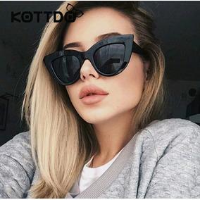 38abd240e Óculos De Sol Modelo Novo Tendencia 2019 Gatinho Escuro Luxo