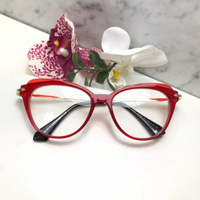 46cc4fca6 Oculos Para Oculos De Grau Moda Visual Miu - Óculos no Mercado Livre ...