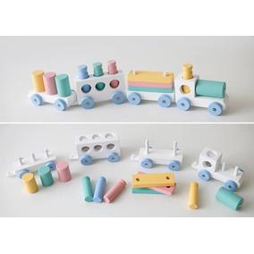 Trem De Brinquedo Madeira Brinquedo Pedagógico