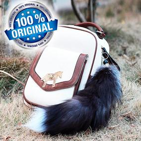 Chaveiro Rabo Lobo 50cm Cauda Raposa Cosplay Kitsune Petplay