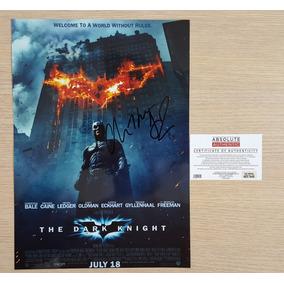 Batman Poster Autografado Por Christian Bale