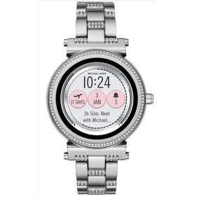 Oferta! Michael Kors Reloj Smartwatch Plata 100% Original