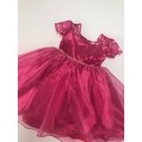 Vestido De Festa Infantil Pink Tam 1