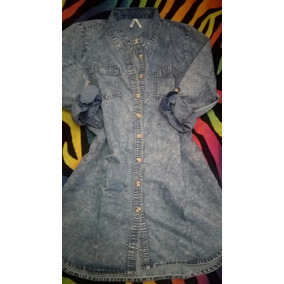 Vestido Talla Plus Gorditas Tipo Blue Jeans Talla S,m,l,xl