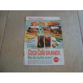Propaganda Antiga Bebidas Coca Cola 1961 Refrigerante 2
