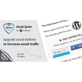 Plugins Social Locker Para Wordpress - Atualização Vitalicia