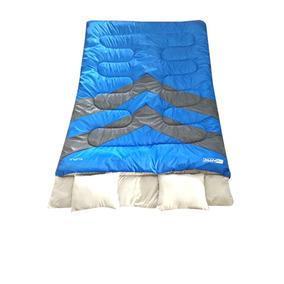 Saco De Dormir Kuple Ntk Casal Azul E Cinza