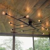 6-light(31.50 Inch) - Montaje Industrial Semi Metal Cre-1368