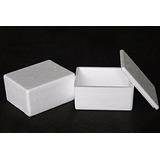 50 Caixas Térmicas Pequenas De Isopor - 0,750ml / 0,5kg