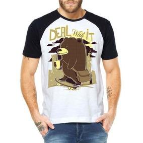 535453d462410 Camisetas Skatista Urso Deal With Camisas Moda Street Style